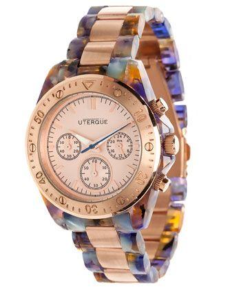 Multi-tone tortoiseshell watch