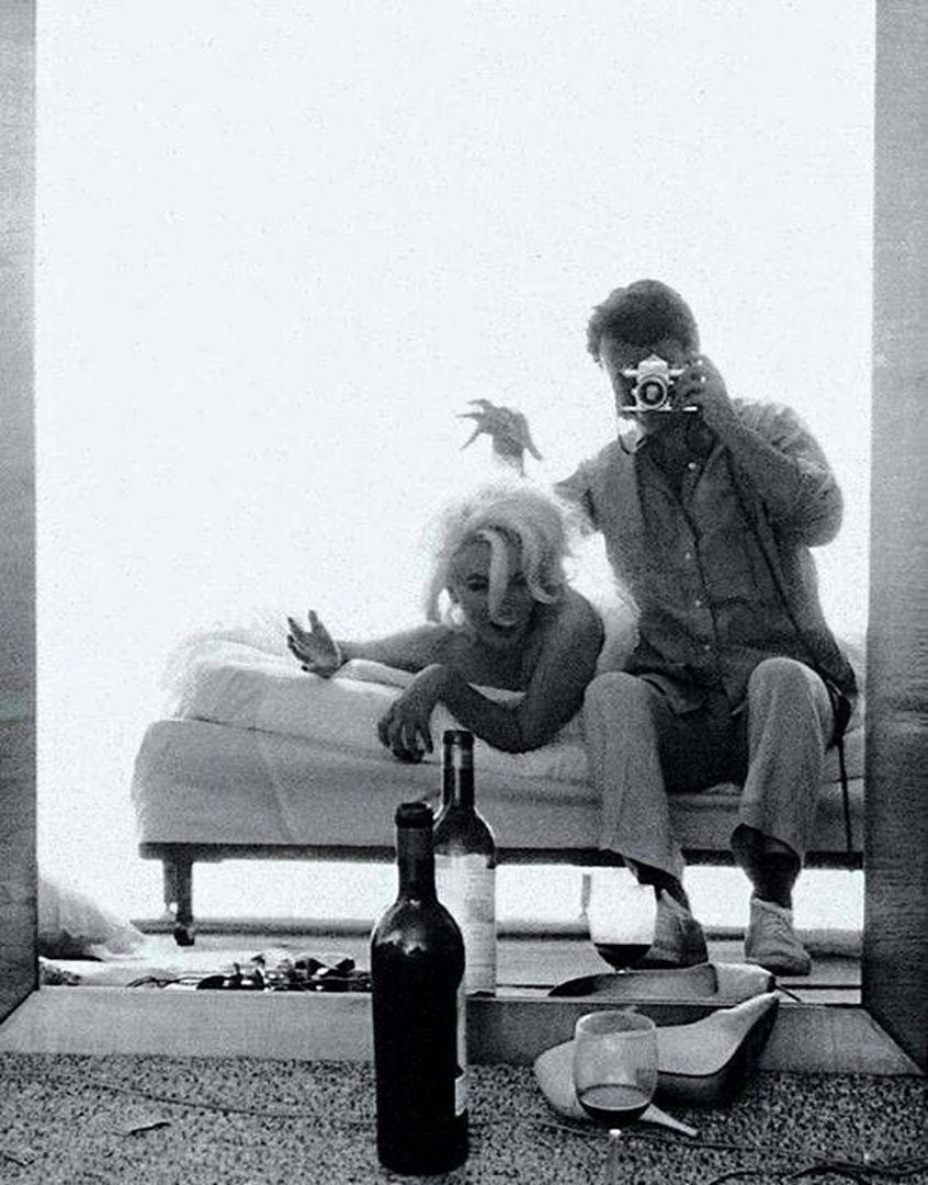 Marilyn Monroe and Bert Stern, 1962.