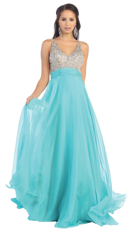 Long Formal Chiffon Prom Plus Size Evevning Dress | Junior Prom ...