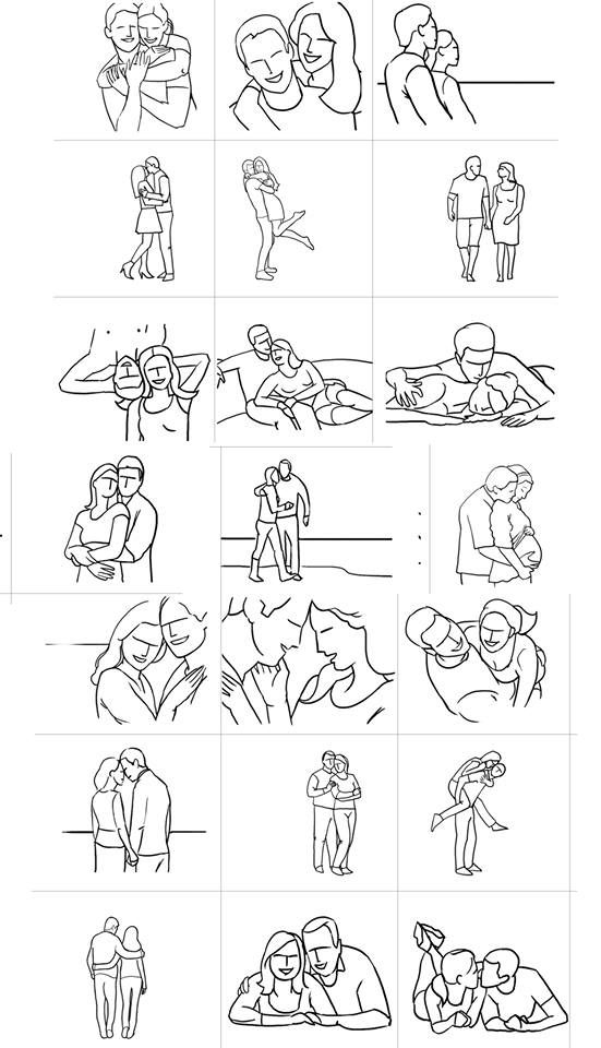 Posing Guide: 21 Sample Poses for Photographing Couples