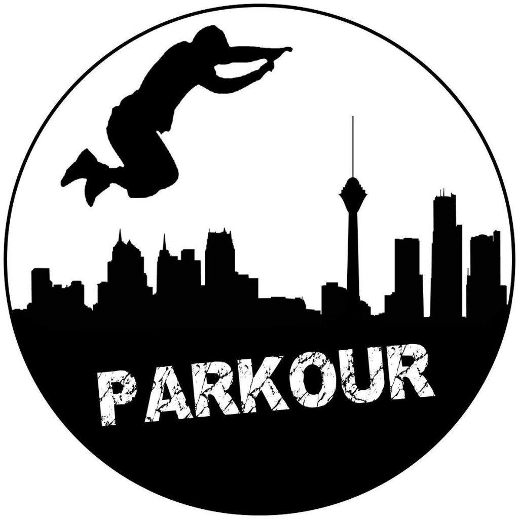 Parkour symbol tattoo