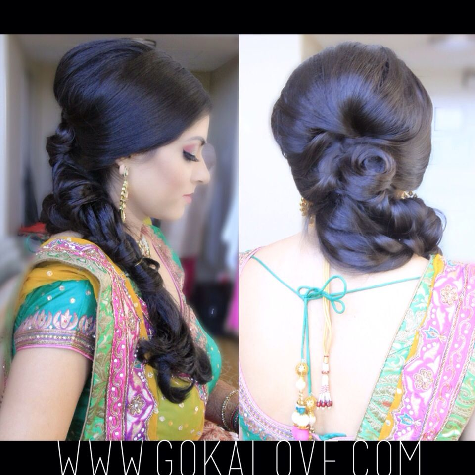 hairstyle for a garba! loose fishtail braid!!! indian