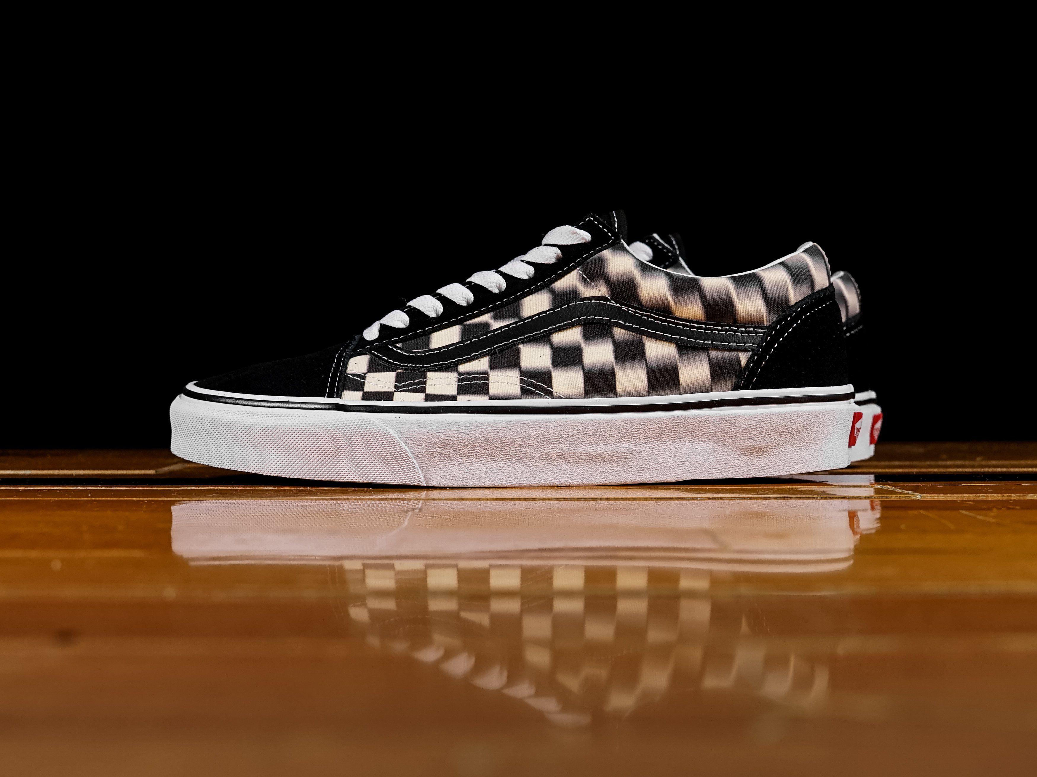 Vans Old Skool Blur Check BlackClassic Low Top Sneakers VN0A38G1VJM Size 6