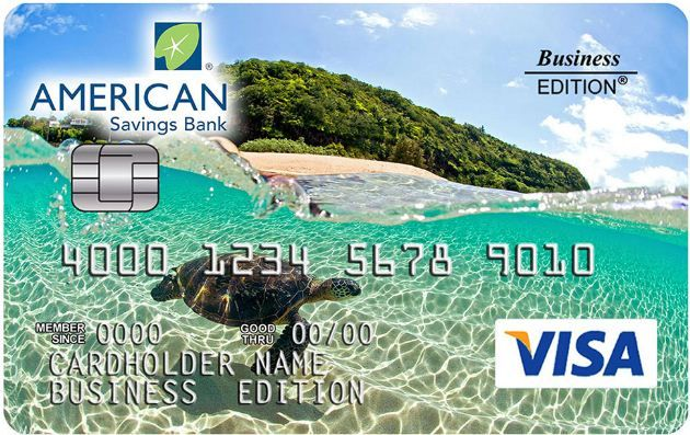 American Saving Bank Platinum Edition Visa Credit Card
