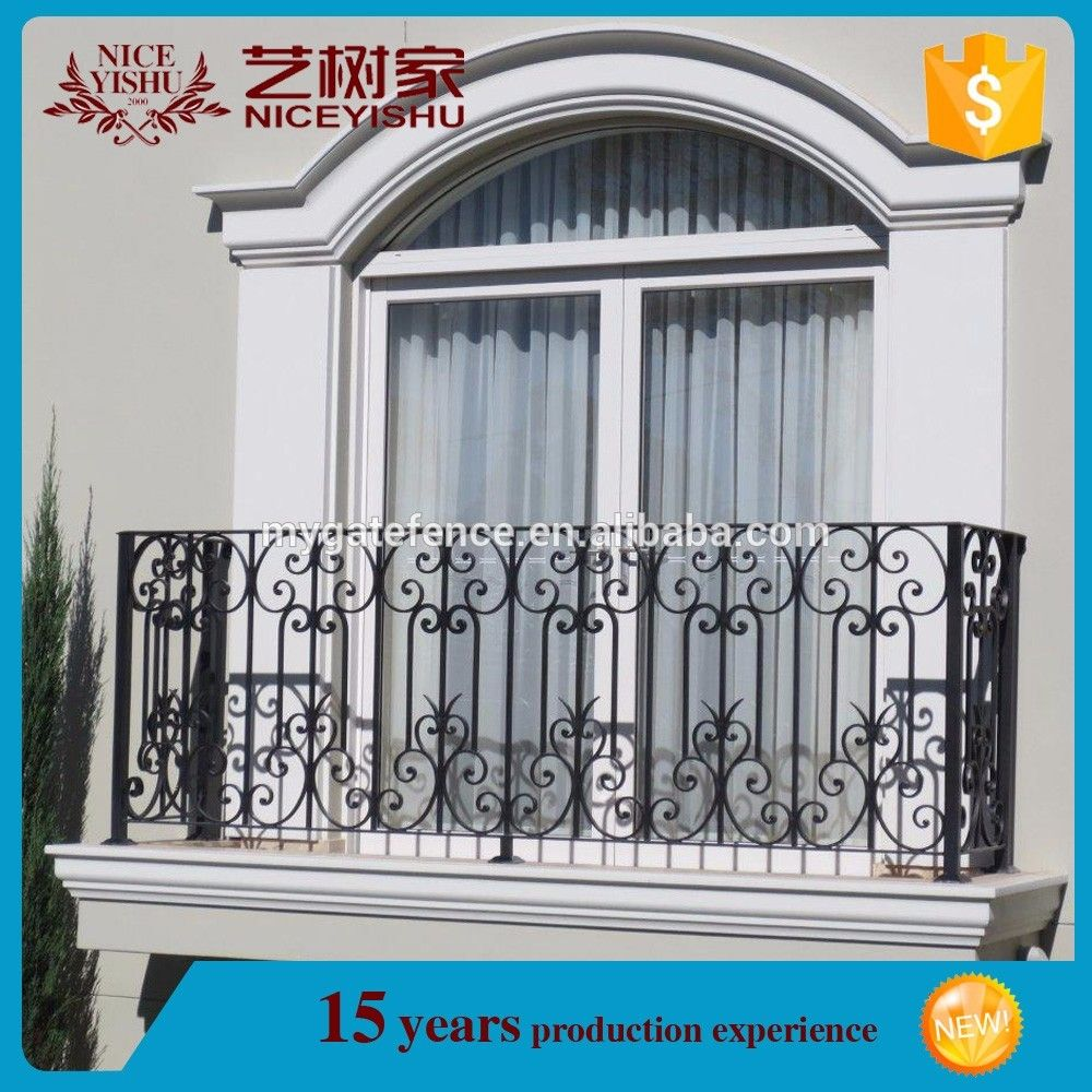 Simple steel balcony grill design wrought iron balcony railing decorat