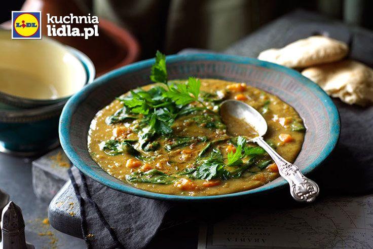 Arabska zupa z soczewicy ze szpinakiem. Kuchnia Lidla - Lidl Polska. #lidl #ryneczeklidla #zupa