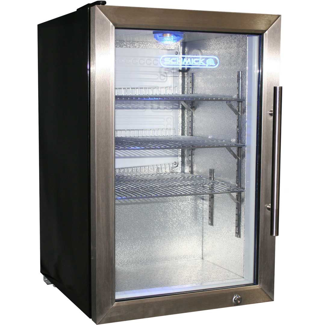 Bar fridge glass door home design and pictures great schmick tropical glass door bar fridge 68litre model ec68l ssh angle planetlyrics