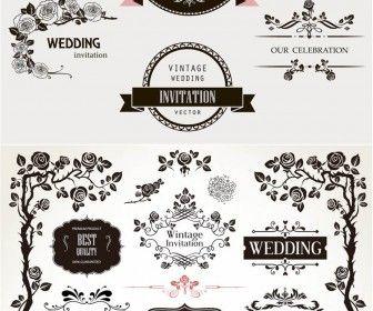 Decorative floral wedding design elements vector graphic design decorative floral wedding design elements vector stopboris Image collections