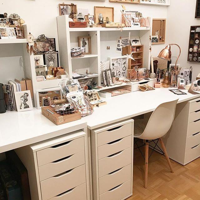 Ein Kleiner Einblick In Mein Kreativ Zimmer. Ich Liebe Die Weißen  Schreibtisch Aufsätze Von @
