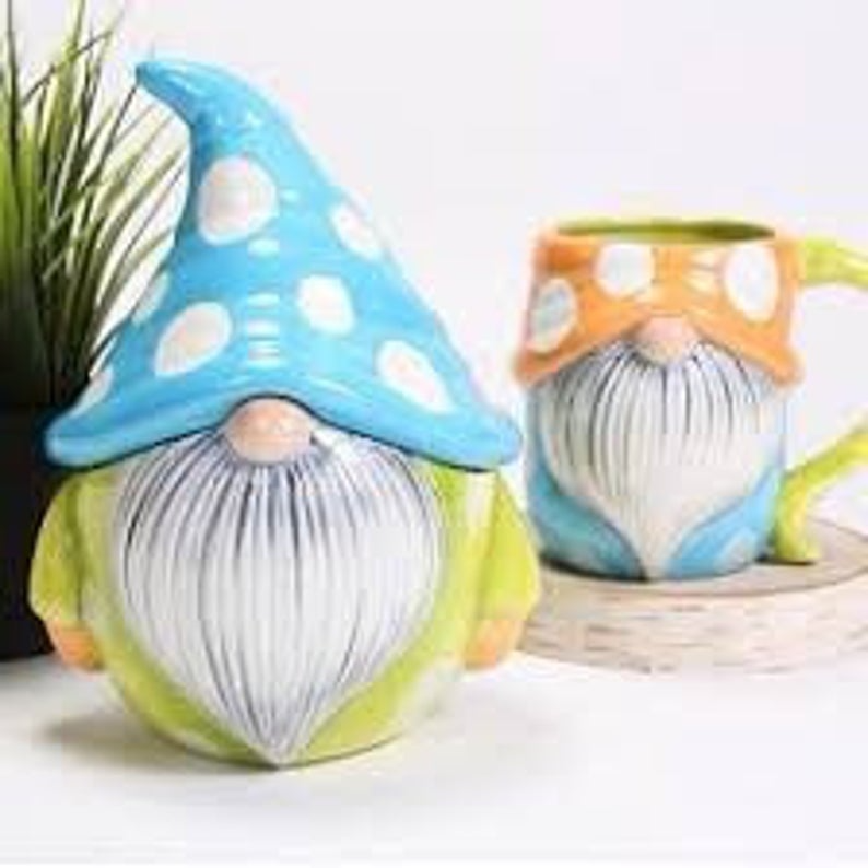 "7"" Gnome jar, Custom painted or diy , craft kit, unfinished or custom order"