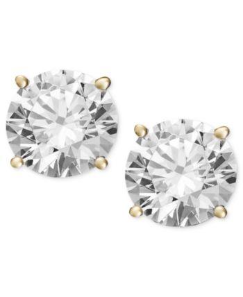 8bd97484e89 Certified Diamond Stud Earrings (2 ct. t.w.) in 14k Gold or White ...