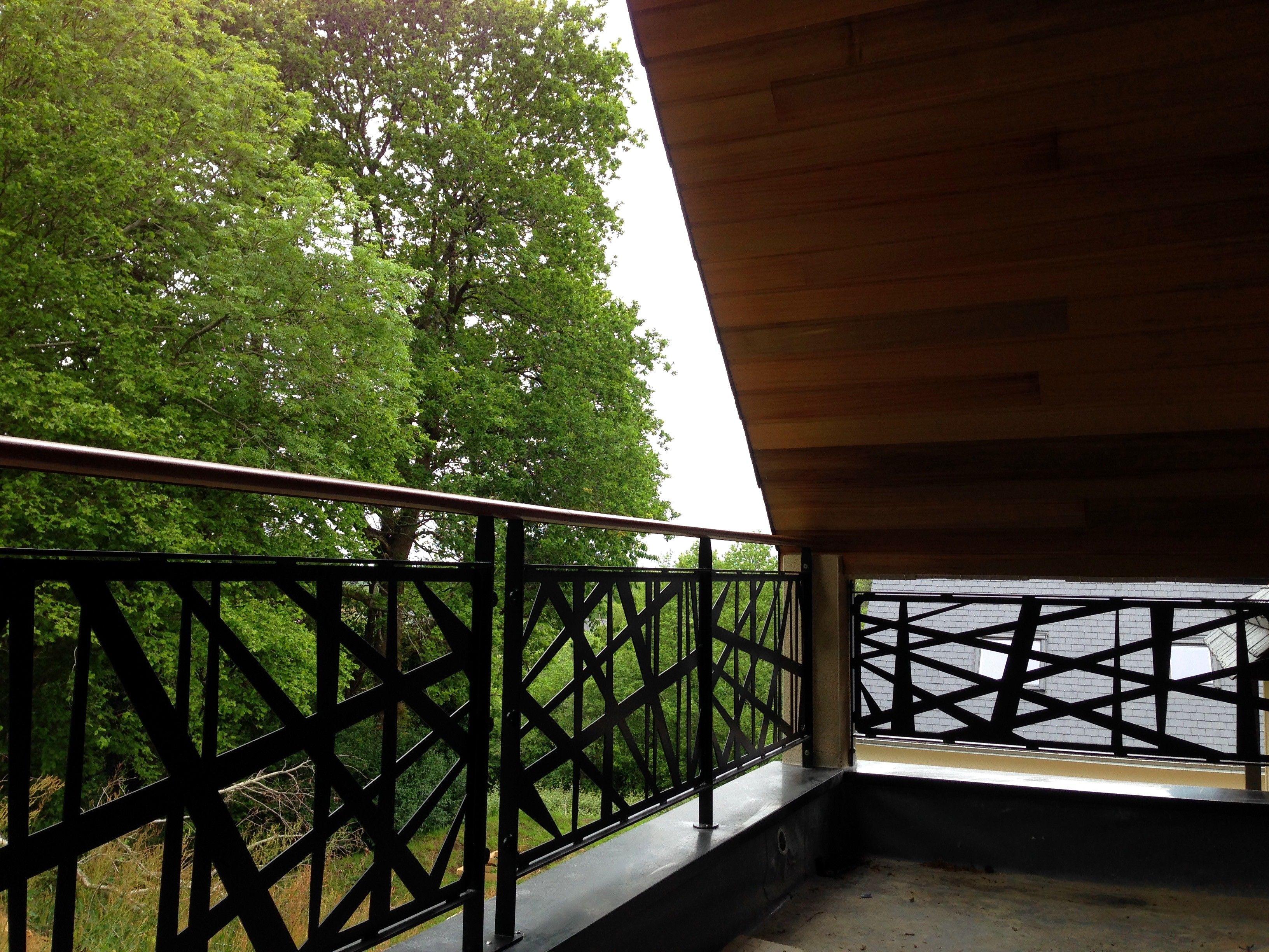 Garde corps pour terrasse motifs personnalis s art for Escalier exterieur original