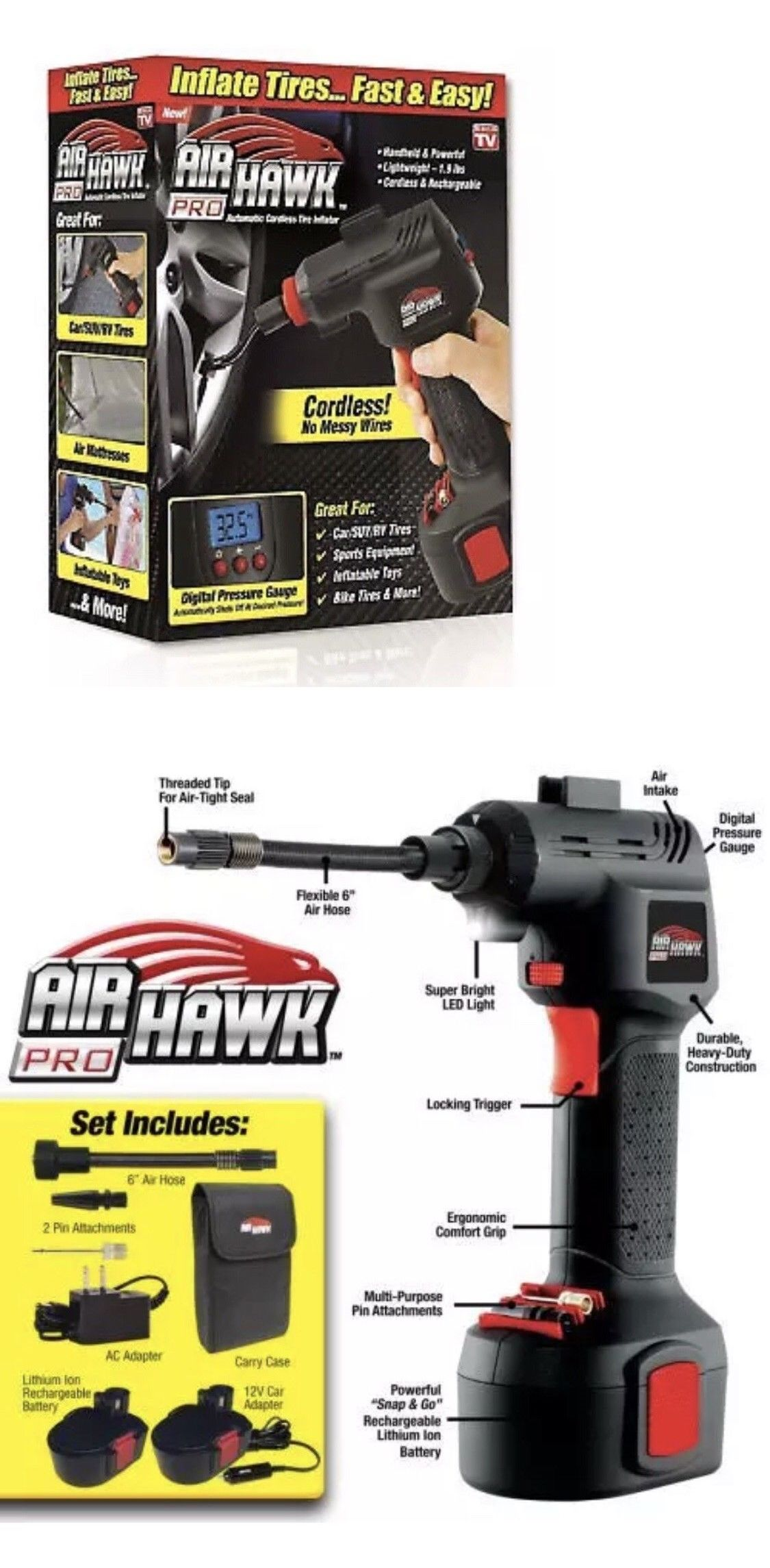 Air Tools 85759 Ontel Air Hawk Pro Automatic Cordless