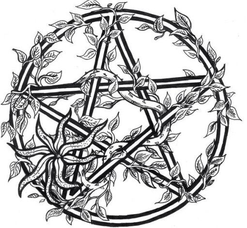 pagan coloring page  star coloring pages pentagram