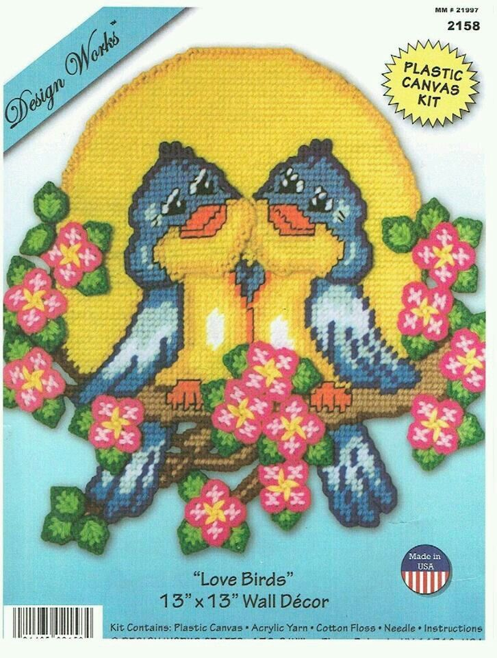 Love birds wall decor by design works 13 plastic canvas
