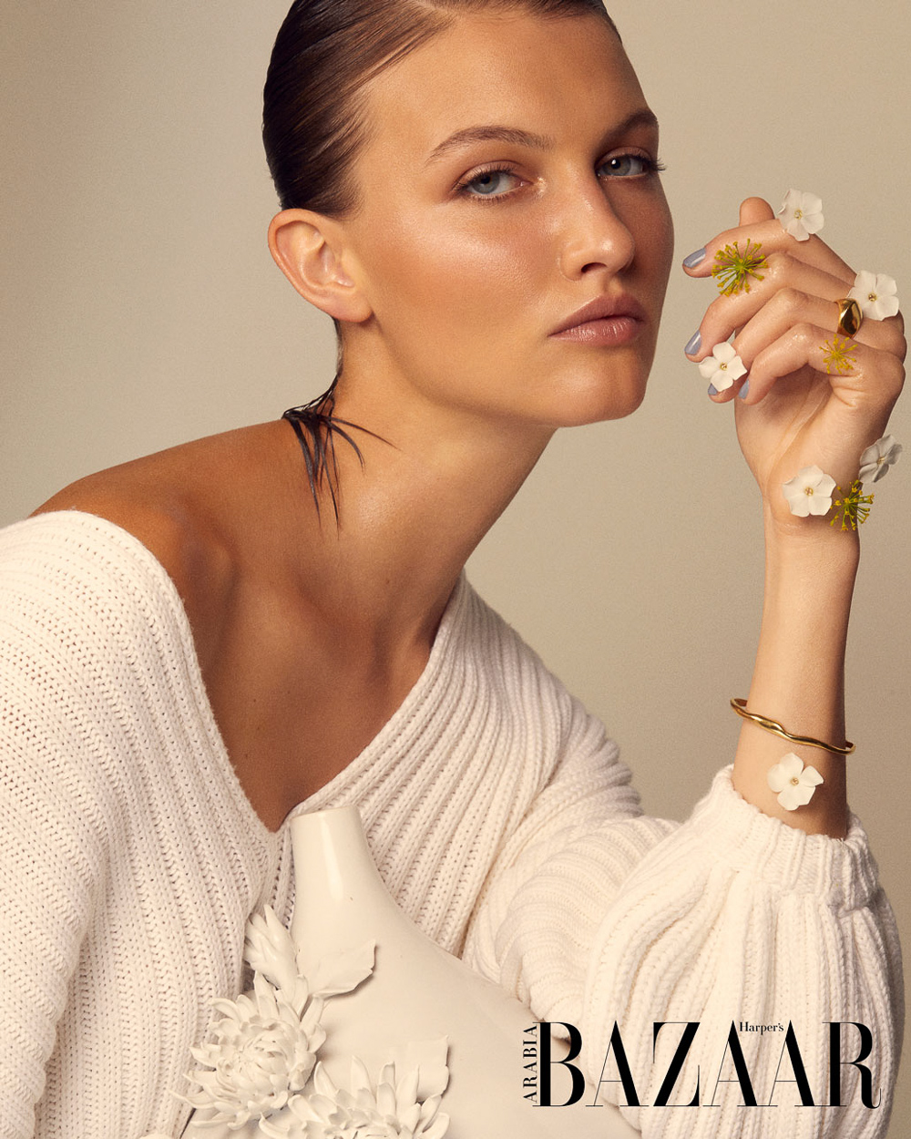 Photo of Frauke Fischer for Harper's Bazaar Arabia with Hilal Ata | Fashion Editorials