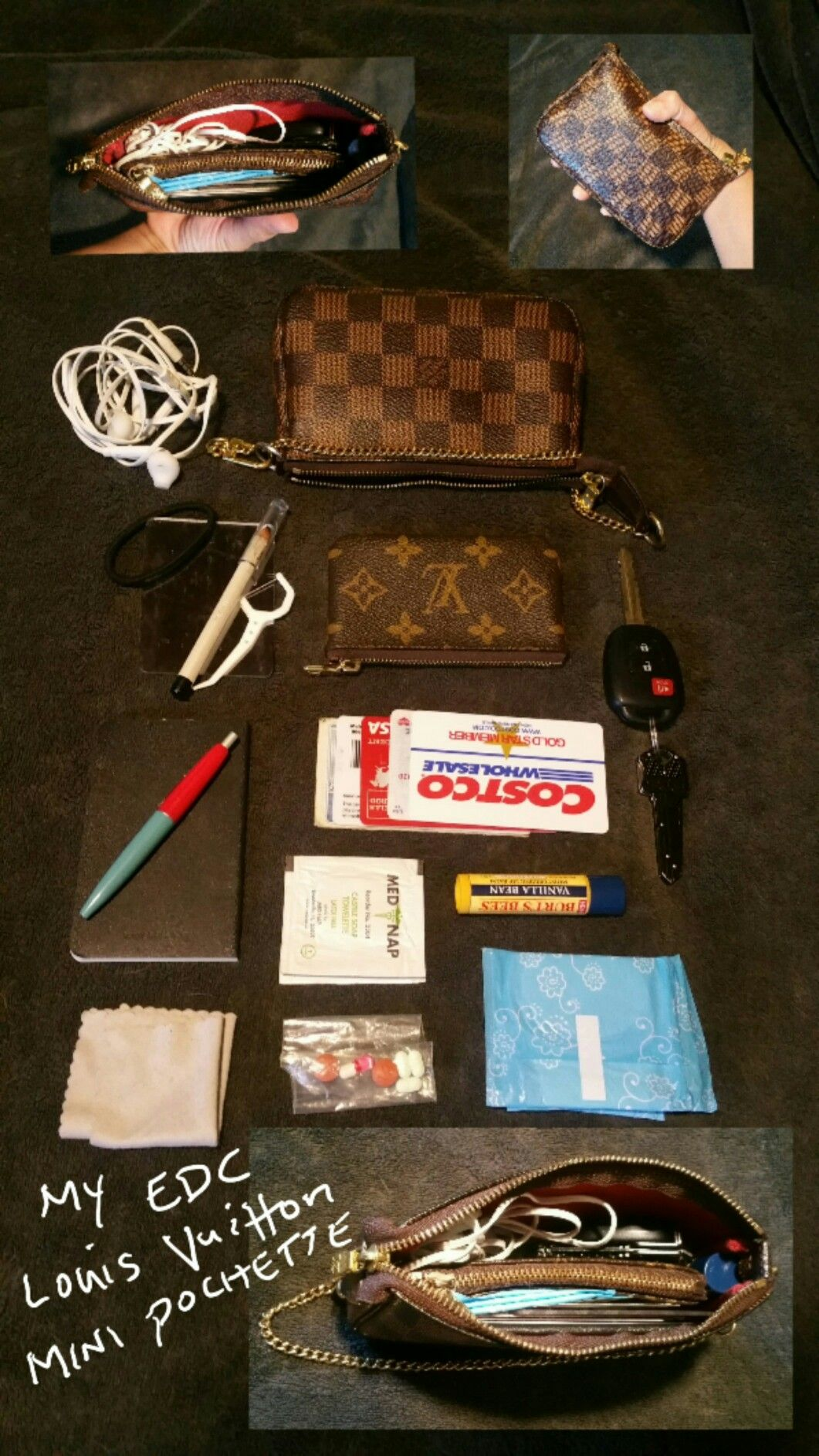 b5ad4e814bb4f My EDC (Every day carry) Louis Vuitton mini pochette accessories The best  little bag ever! It holds all you really need.