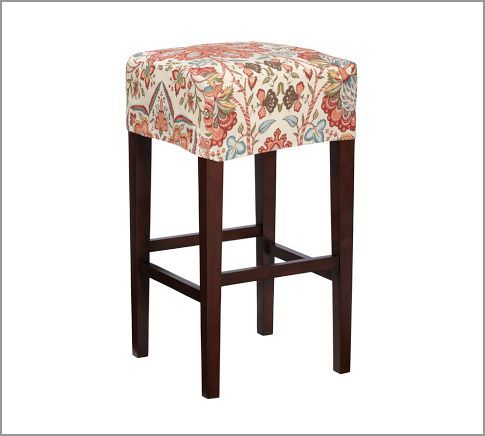 Barstool Slip Cover But Neutral Washable Fabric Home Decor