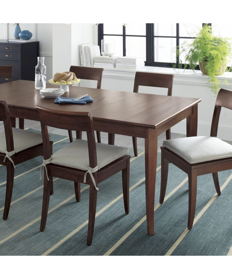 Cabria Honey Brown Extension Dining Table Crate And Barrel