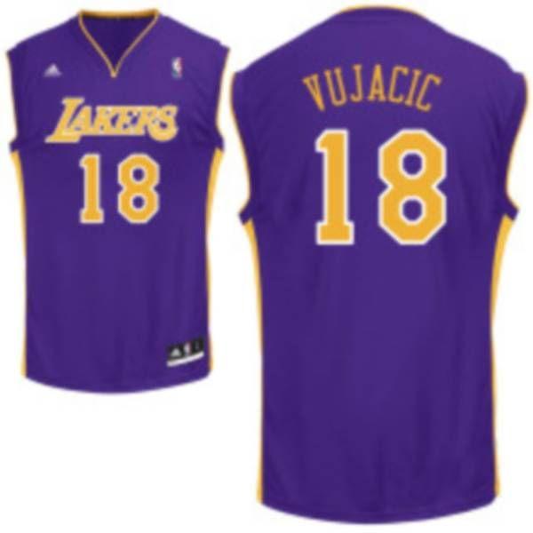 Los angeles lakers · Lakers #18 Sasha Vujacic Embroidered Purple NBA Jersey !$20.50USD