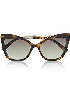 1986571b379 Le Specs Naked Eyes tortoise shell acetate cat-eye sunglasses