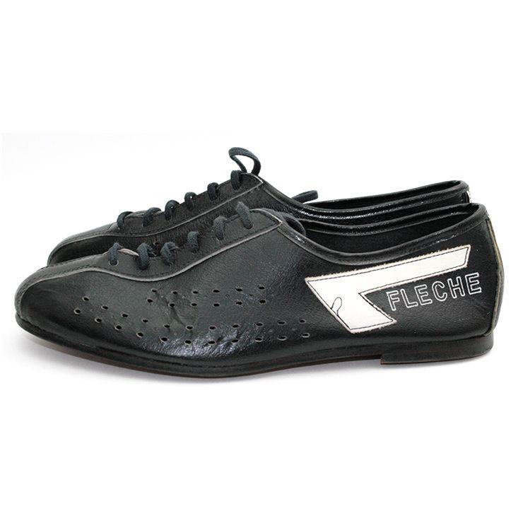... buy popular 93860 e36f4 Rares chaussures cycliste en cuir noir  new  style e8189 877a6 Bottineà talon couleur bronze et bleu CATHERINE PARRA ... 678a64fe03d2