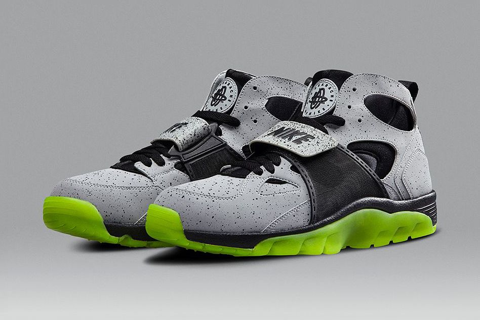 Nike Air Trainer Huarache Grey And Green Musée des