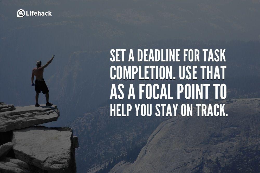 30sec Tip Set A Deadline For Task Completion Z30sec Tip