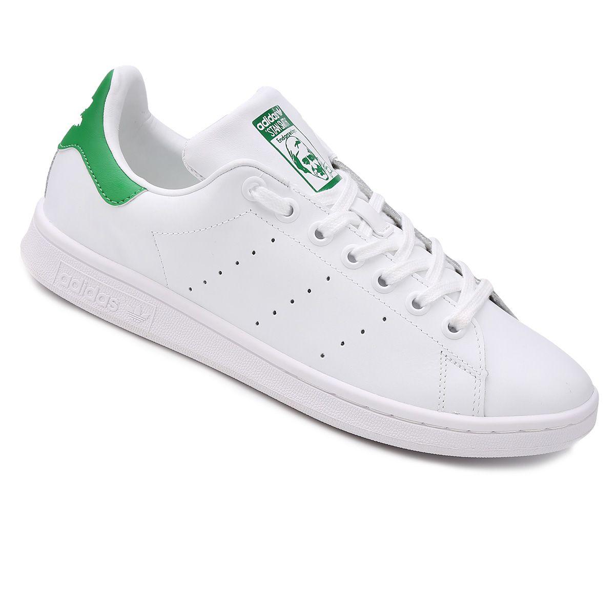 Tênis Adidas Stan Smith - Branco e Verde   Adidas stan ...