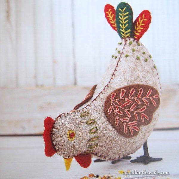 Folk Embroidered Felt Birds - Book Review #feltbirds