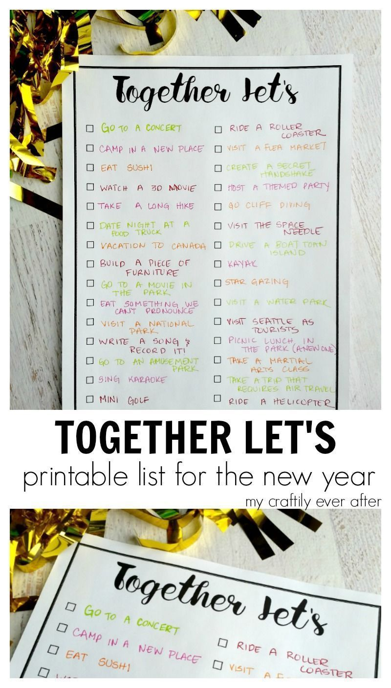 Together Let's Printable Bucket List My Craftily Ever
