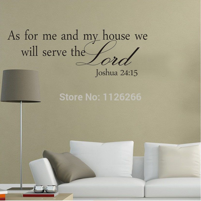 Wall Art Designs: As For Me And My House Wall Art Vinyl Wall ...