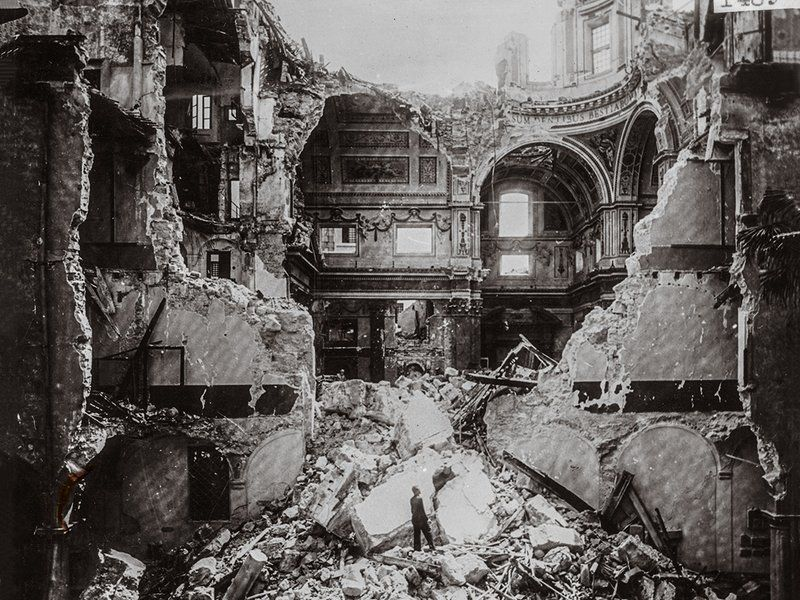 Image result for chandelier in bombed out building 2nd world war