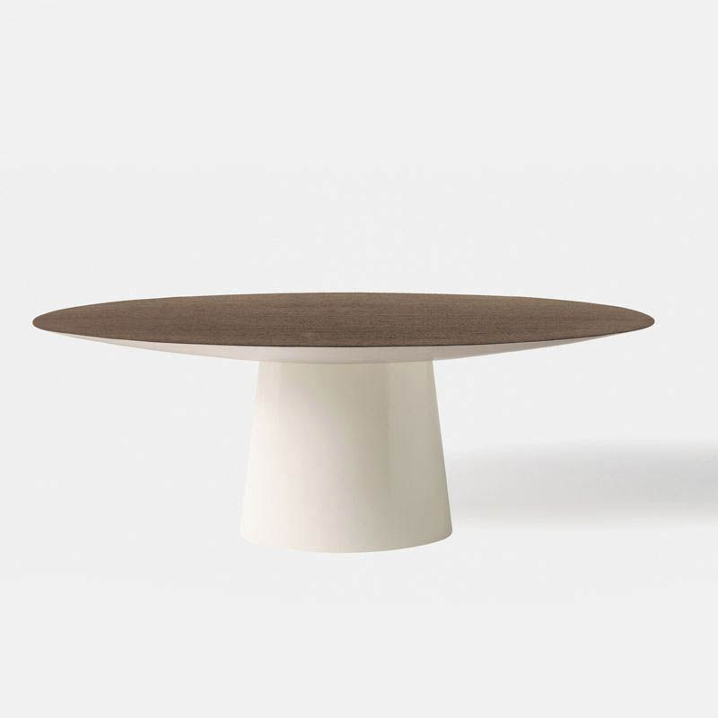 Custom Size Table Diameter And Top In Mahogany Finish Same As Secretary Desk