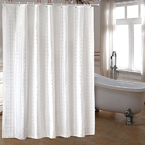 Ufaitheart Extra Long Fabric Shower Curtain 72 X 96 Inch