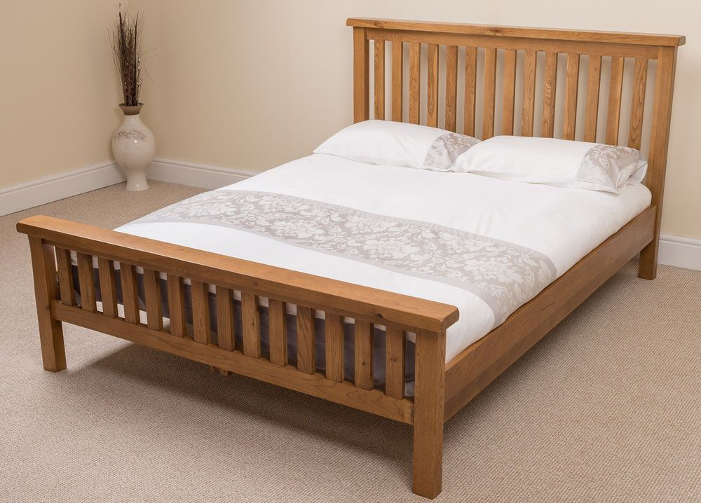 Farmhouse Solid Oak Wood 6ft Super King Size Bed Frame Wooden
