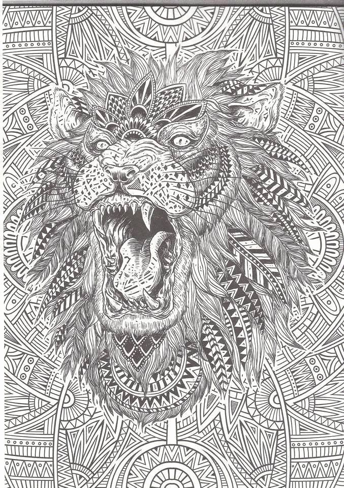 Hard Coloring Sheets For Adults Beautiful Intricate Coloring Pages For Adults Coloring Home Detailed Coloring Pages Lion Coloring Pages Animal Coloring Pages