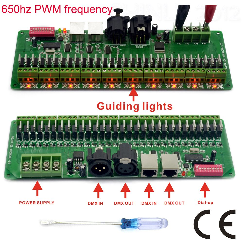 30 channel DMX 512 rgb LED strip controller dmx decoder dimmer ...