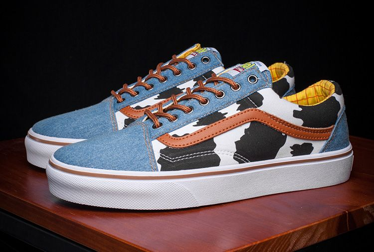 Disney Pixar Vans Toy Story Woody Cow Old Skool Skate Shoes