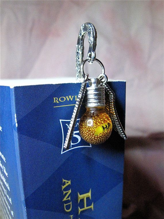 Harry Potter bookmark inspired by golden by JustBecauseTreasures, $12.99