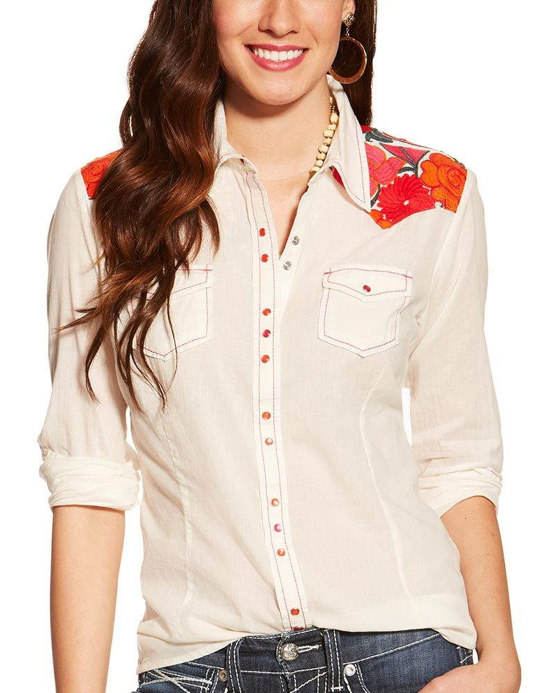 White long sleeve dress shirt for girl