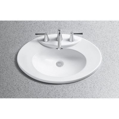 Toto Pacifica Self Rimming Bathroom Sink Sink Finish: Cotton, Faucet Mount: Single Hole