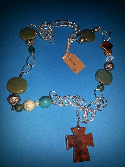 Stone Cross by MADDjewels on Etsy, $30.00
