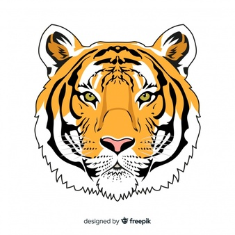 Download Realistic Tiger Background For Free Tiger Illustration Tiger Face Face Illustration