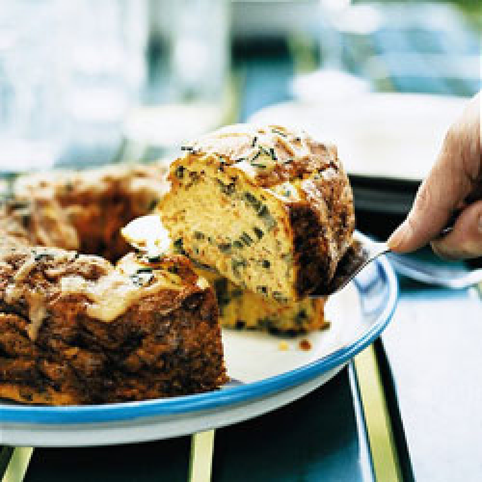 """This recipe appeared with the feature """"The Incredible Island of Food and Wine"""" by Chloe Osborne (April 2004), a close look at the culinary world of Tasmania. Frittatas are typically made on the stove in a skillet, but preparing them in a Bundt pan offers a convenient and beautiful alternative for a festive brunch."""