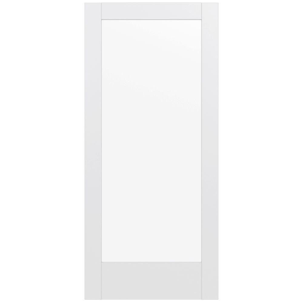 Jeld Wen 36 In X 80 In Moda Primed Pmc1011 Solid Core Wood Interior Door Slab W Clear Glass Thdjw221100059 Wood Doors Interior Doors Interior Slab Door