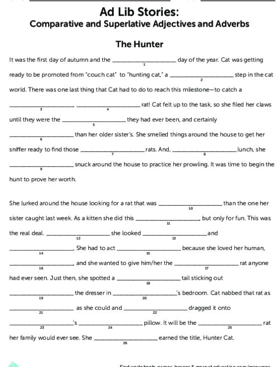 Adverbs lesson plan, Grammar lesson