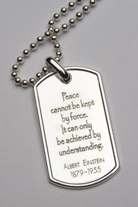PeaceTags - a wonderful product that supports our wounded troops.  A great cause founded by a good friend.