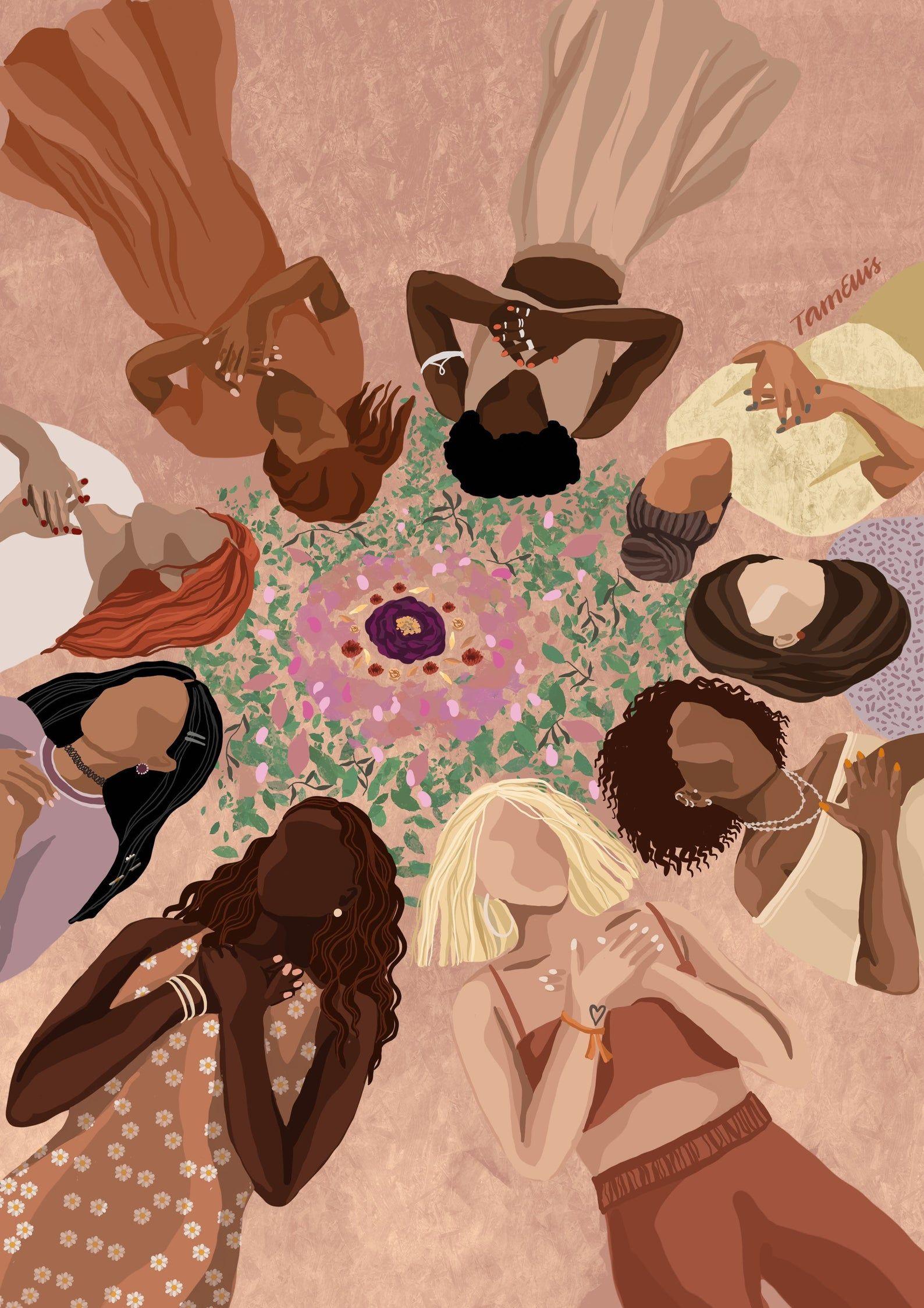 We are One - Fine art print, unity illustration