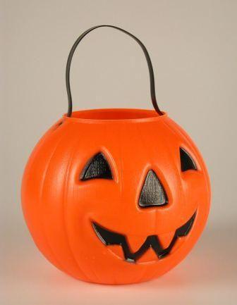 Jack O Lantern Plastic Bucket